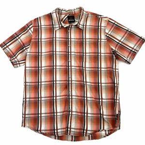 Prana Plaid Button Down Shirt L